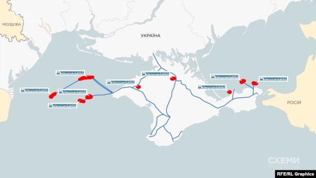 У 2014 році Росія захопила 9 із 10 українських родовищ, на розробку яких отримав ліцензії «Чорноморнафтогаз»