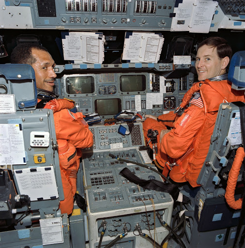 STS-60 crew during egress training