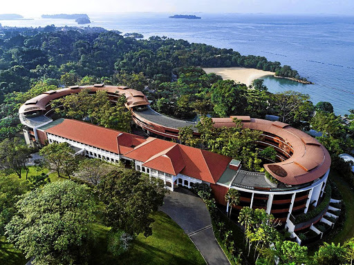 SITE UNSEEN: The Capella Hotel, the venue for the June 12 summit between US President Donald Trump and North Korean leader Kim Jong-un, on Singapore's resort island of Sentosa. Picture: HANDOUT VIA REUTERS