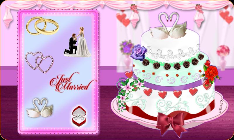 Rose Wedding Cake Maker Games Android App Screenshot
