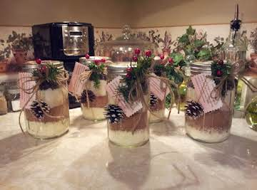 Peppermint Cocoa Mix in a Jar