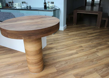 Circular Table Top in Dark Wood