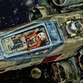 Vintage Star Wars by Ewan Arnolda - Print & Graphics All Print & Graphics ( film, icon, creative, art, scifi, star, movie, wars, design )
