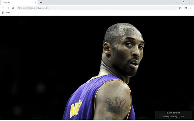 Kobe Bryant NBA New Tab Theme