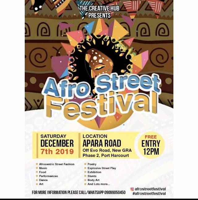 EVENT: AFRO STREET FESTIVAL 2019 HOLDS THIS WEEKEND