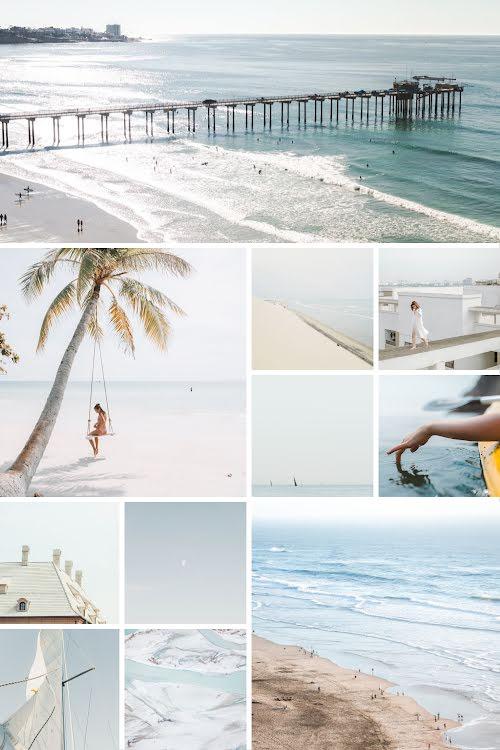 Beach Collage - Pinterest Pin Template