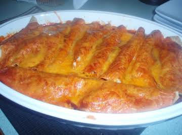 Sassy Chicken Enchiladas