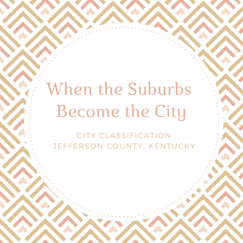 Read this local Louisville blog about how Jefferson County became Louisville KY. After the merger Louisville was filled with tons of cities, all with their own classifications. See why your city taxes are different from your friends.