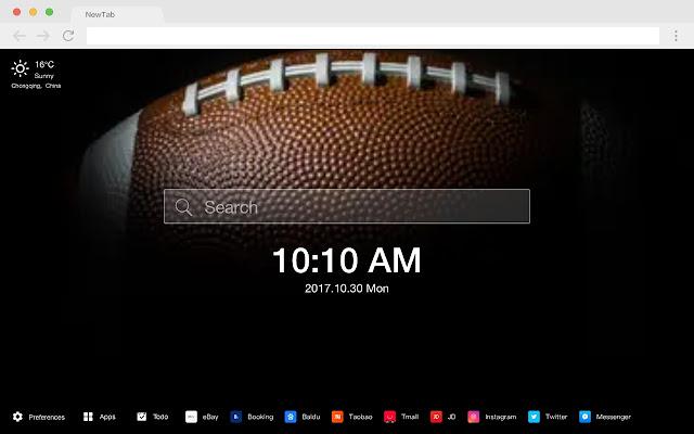 Super Bowl Pop Event HD New Tabs Theme