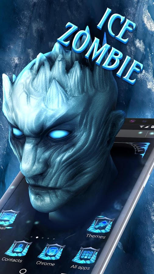Ice White Walker 3D Theme- screenshot