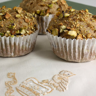 Honey and Toasted Pistachio Muffins.