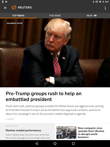Reuters News Screenshot