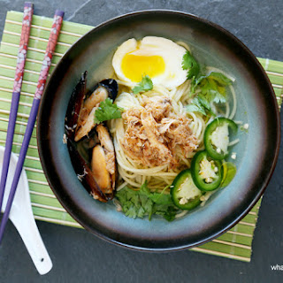 Crabs and Mussels Ramen with Truffle Broth Recipe