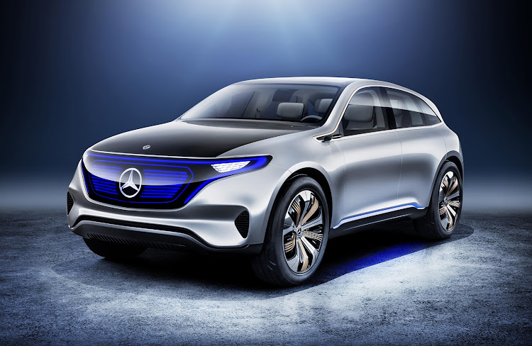 The Mercedes EQC.