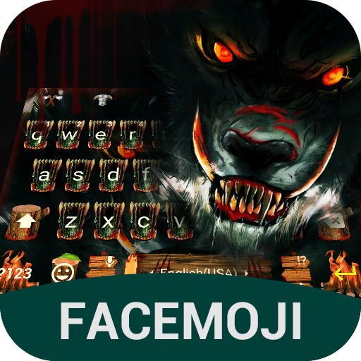 Dark Wolf Keyboard Theme for Android
