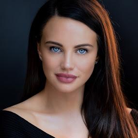 Blue Eyed Beauty by Jeffrey Martin - People Portraits of Women ( studio, model, female model, portrait, portrait photography, tamron, blue eyes, catchlights,  )