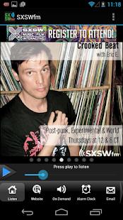 SXSWfm® - screenshot thumbnail