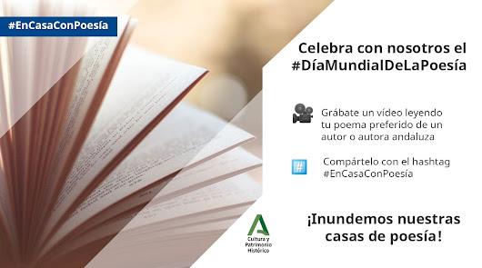 La obra de autores andaluces en redes por el Día de la Poesía
