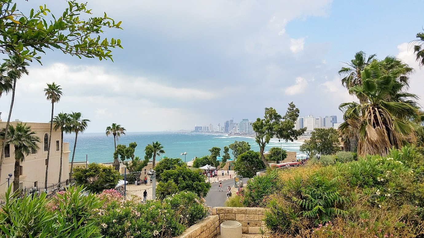 Travel Tuesday, walking in Jaffa and Tel Aviv in Israel visit: The Wishing Bridge - an ancient legend holds that anyone boarding the bridge holding their zodiac sign and looking at the sea will have their wish come true. Here's a view from the bridge looking north towards Tel Aviv