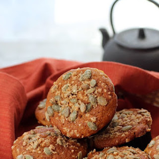 Pumpkin Muffins with Sugared Pepitas
