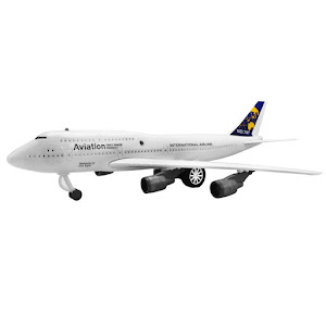 Jucarie copii Avion Boeing 747, 44 x 22 cm, design realist