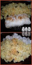 Photo: filet merlu, riz thaï, tajine aux courgettes et patates douces