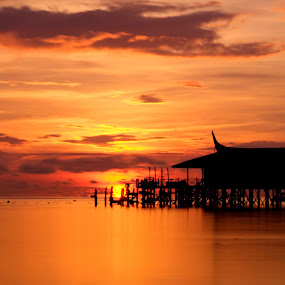 Sunrise Mabul Island, Semporna Sabah by Fadly Hj Halim - Landscapes Waterscapes