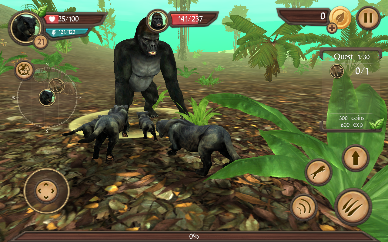 Wild panther sim 3d android apps on google play for Simulatore 3d