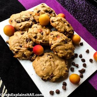 Plum-Cherry Chocolate Chip Cakies