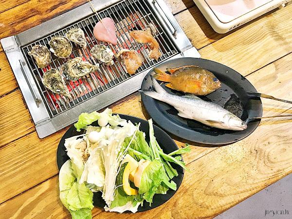 海世界複合式碳烤 |漁人豪氣吃法,自烤自煮海鮮吃到飽,宜蘭海鮮美食、宜蘭壯圍美食