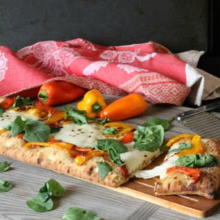 Roasted Sweet Pepper Flatbread Pizza