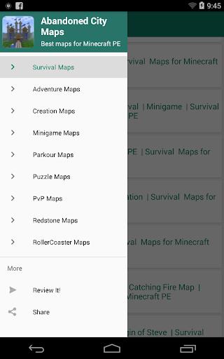 Abandoned City for Minecraft PE 1.8 screenshots 5