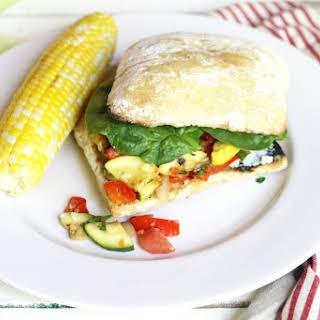 Summer Veggie Ciabatta Sandwich.