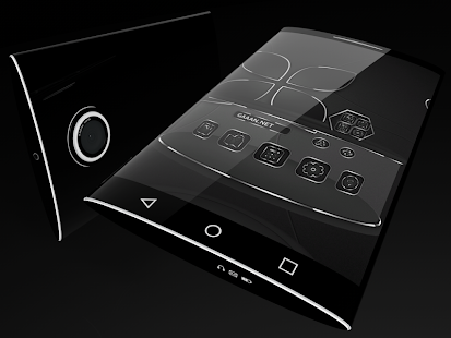 Soft Touch Black theme for Next Launcher 4
