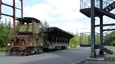 Photo: Zollverein; Kokerei; E-Lok mit Kokslöschwagen