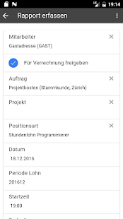 PROFFIX Leistungserfassung - náhled