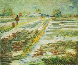 "Photo: Vincent Van Gogh, ""Paesaggio con neve"""