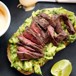 Grilled Steak, Avocado, and Spicy Crema Sandwiches.