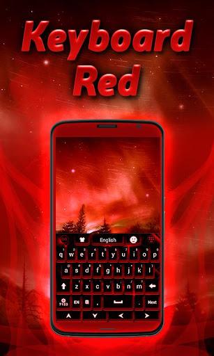 红色的键盘