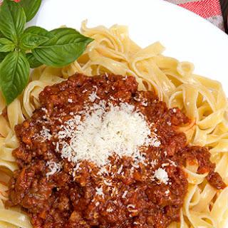 Anna Del Conte's ragù bolognese sauce.