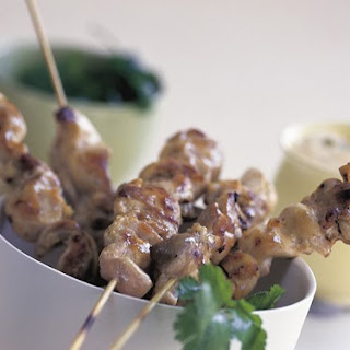 Chicken Skewers With Chilli Garlic Mayonnaise