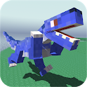 Blocky Dino Park: Raptor Attack icon