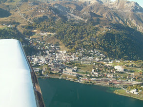 Photo: Passing St. Moritz http://www.swiss-flight.net