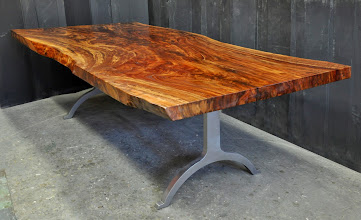 Photo: http://dorsetcustomfurniture.blogspot.com/2014/04/a-live-edge-claro-walnut-table.html