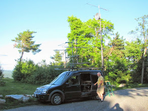 Photo: K8GP / Rover - FM19AW (looking ESE) - ARRL June VHF 2014