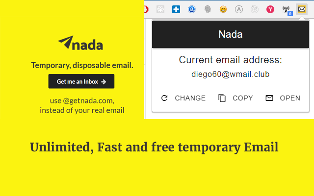 Nada - Temp mail, Disposable Email