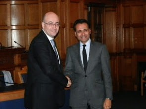 Photo: Sewa Day thanks Jon Rouse, Chief Executive of Croydon Council (on left)