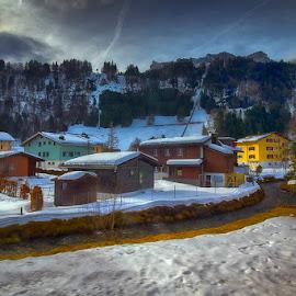 Snow in Obwalden by Mac Evanz - City,  Street & Park  Vistas