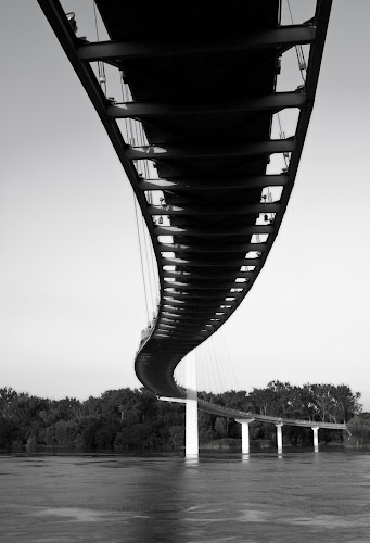Bob Kerrey Pedestrian Bridge  by John CHIMON - Travel Locations Landmarks ( pwclandmarks, bridge )