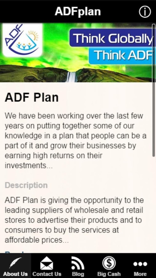 ADF Plan App- screenshot